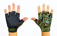Перчатки тактические открытые пальцы MACHANIX 4629HG. Рукавички спортивні