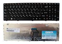 Оригинальная клавиатура для Lenovo IdeaPad G580, G585, N580, N585, Z580, Z585 black (black frame) Original RU