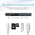 USB Type-C Хаб Promate macHub12 SpaceGrey, фото 3