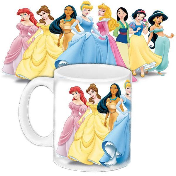Детская чашка подарок с принтом Принцессы