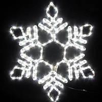 Светодиодная фигура снежинка 56см, IP44 Белый