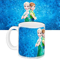 Детская чашка подарок с принтом Анна и Эльза