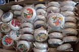 """Елочная игрушка """"Медаль белая с перламутром Декупаж""""  (диаметр 10 см), фото 3"""
