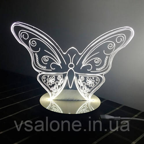 Нічник 3D Світильник у вигляді Метелика