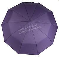 Женский красивый прочный зонтик полуавтомат одноцветный с проявкой BELLISSIMO art. 461 сиреневый (101685)