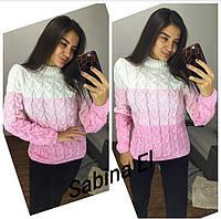 Жеский теплый вязаный свитерок Lalo р.42-46