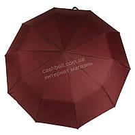 Женский красивый прочный зонтик полуавтомат одноцветный с проявкой BELLISSIMO art. 461 бордовый (101681)