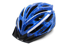 Велошлем кросс-кантри с механизмом регулировки ZEL HB31-B (EPS, пластик, PVC, M-55-58, L-58-61, синий)