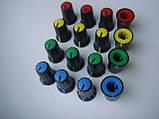 Ручка черная  (цветная) 16.5x12mm потенциометров пульта Phonic, Muzon , фото 3