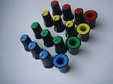 Ручка черная  (цветная) 16.5x12mm потенциометров пульта Phonic, Muzon , фото 4