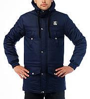 Мужская зимняя парка | куртка Ястреб Wind Proof, темно-синяя (есть опт), фото 1