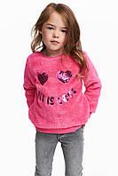Джемпер плюшевый H&M для девочки, 8-10Y(134-140)