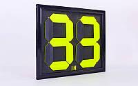 Табло замены игроков  (2x2, металл, пластик, р-р 44*39см, двухсторонее, универсальное)