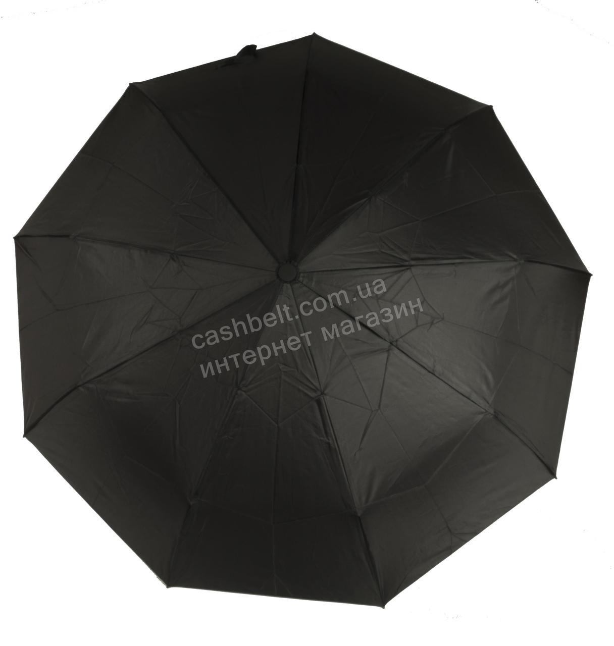 Мужской прочный зонт автомат классический черный цвет NOVEL Umbrella art. 1349 черный (101641)