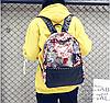 Женский рюкзак с ярким принтом, фото 4