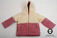 Курточка из овечьей шерсти, детская толстовка из овчины, тёплый детский свитер