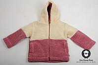 Курточка из овечьей шерсти, детская толстовка из овчины, тёплый детский свитер, фото 1
