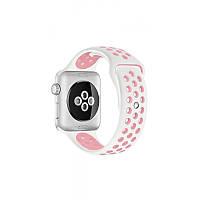 Ремешок Apple Watch Sport Nike+ 38 mm белый/розовый