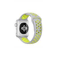 Ремешок Apple Watch Sport Nike+ 38 mm серый/желтый