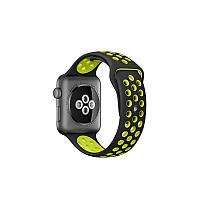Ремешок Apple Watch Sport Nike+ 38 mm черный/желтый