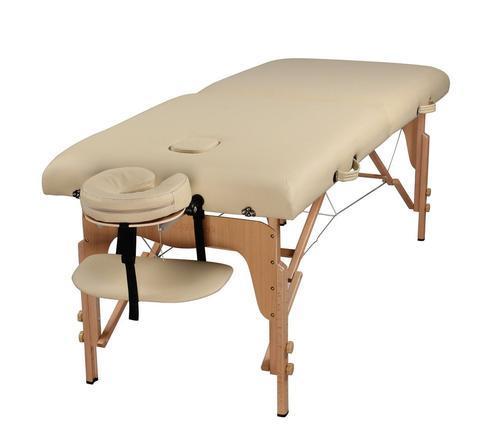 Массажный стол деревянный 2-х сегментный (Светло-бежевый)