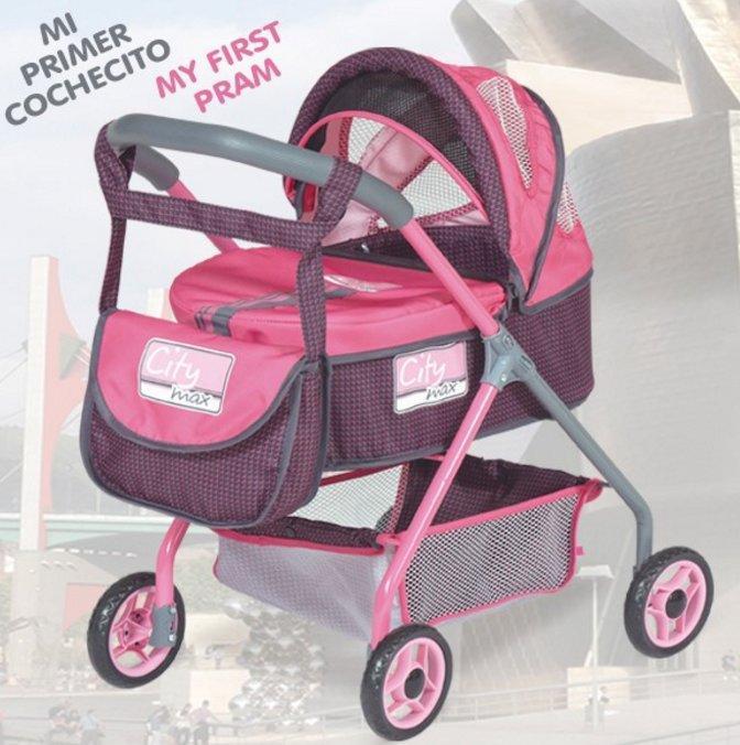 Коляска для кукол с сумкой серии DeCuevas City Max 86018, высота 56см