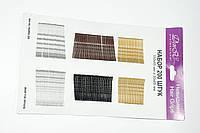 Невидимки для волос DenIC цветные - набор 200 штук