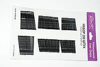 Невидимки для волос DenIC черные - набор 200 штук
