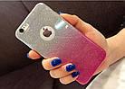 Чехол накладка на iPhone 5/5s/5se  розовый градиент 2в1.