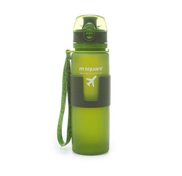 Силиконовая бутылка для воды 500 мл