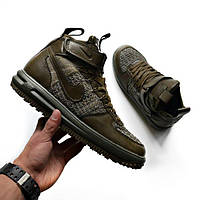 Кроссовки Nike Lunar Force 1 Flyknit Workboot Olive replica AAA