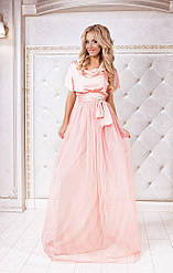 Шикарное пышное платье с фатиновой юбкой 42 44 46