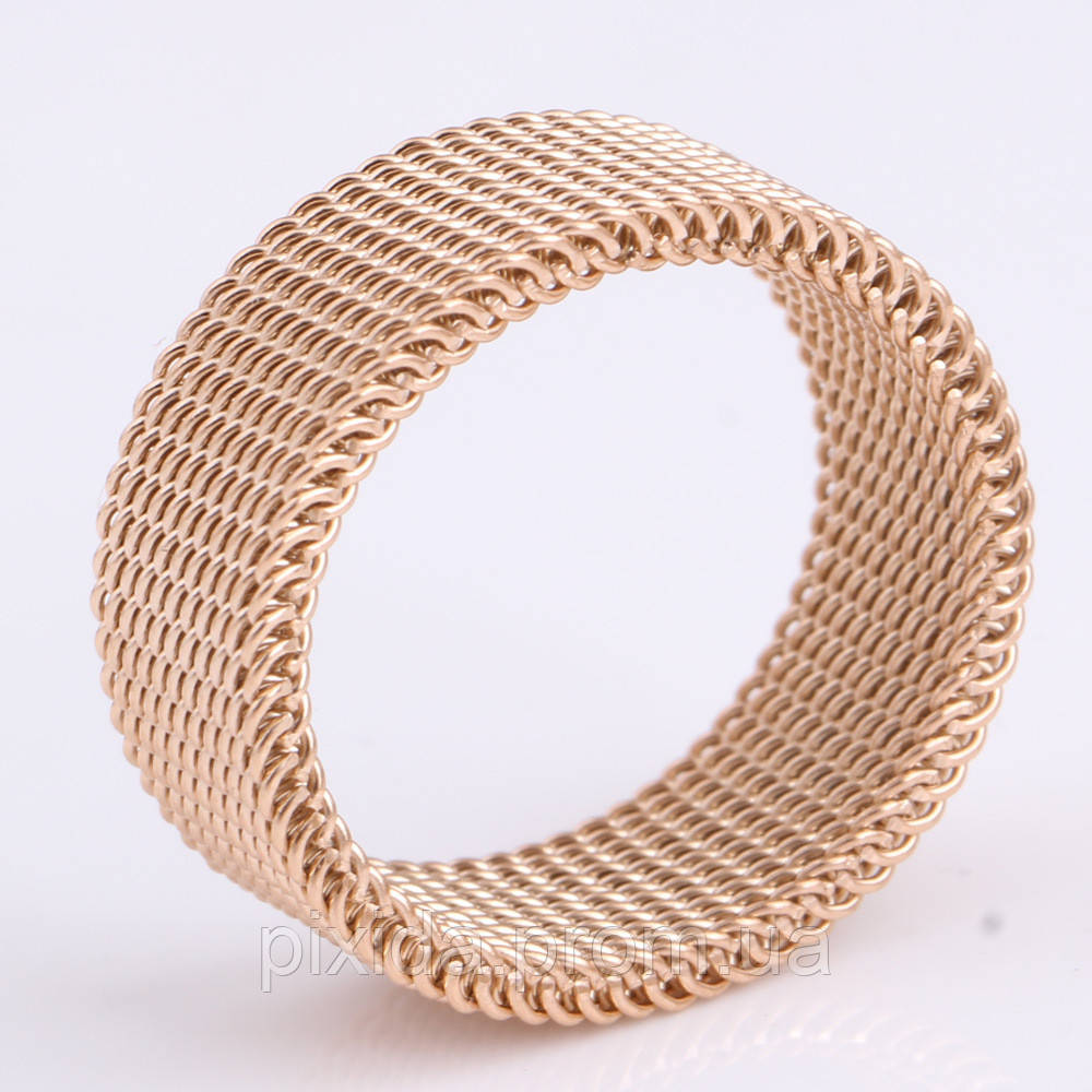 Кольцо Сеточка покрытие золото 18К