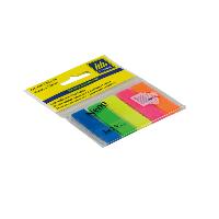 """Закладки пластиковые 12х45 (5x25шт) Buromax """"KT"""" купить канцелярию оптом ZB-10"""
