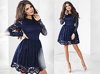 Изумительное нарядное платье с гепюра и трикотажным подкладом