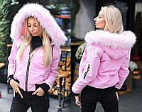 0d70bc68c32 Женская короткая куртка-парка синтепон + мех 9112