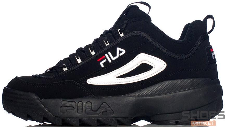 52086005a4b6c5 Мужские кроссовки Fila Disruptor II Black/White - Интернет-магазин обуви и  одежды в