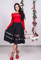 Елегантне вечірнє червоне плаття Lira