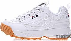 Мужские кроссовки Fila Disruptor II White/Brown