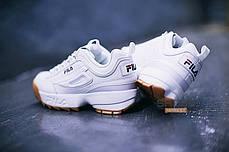 Мужские кроссовки Fila Disruptor II White/Brown, фото 3
