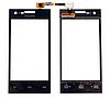 Оригинальный тачскрин / сенсор (сенсорное стекло) для Philips S309 Dual SIM (черный цвет)