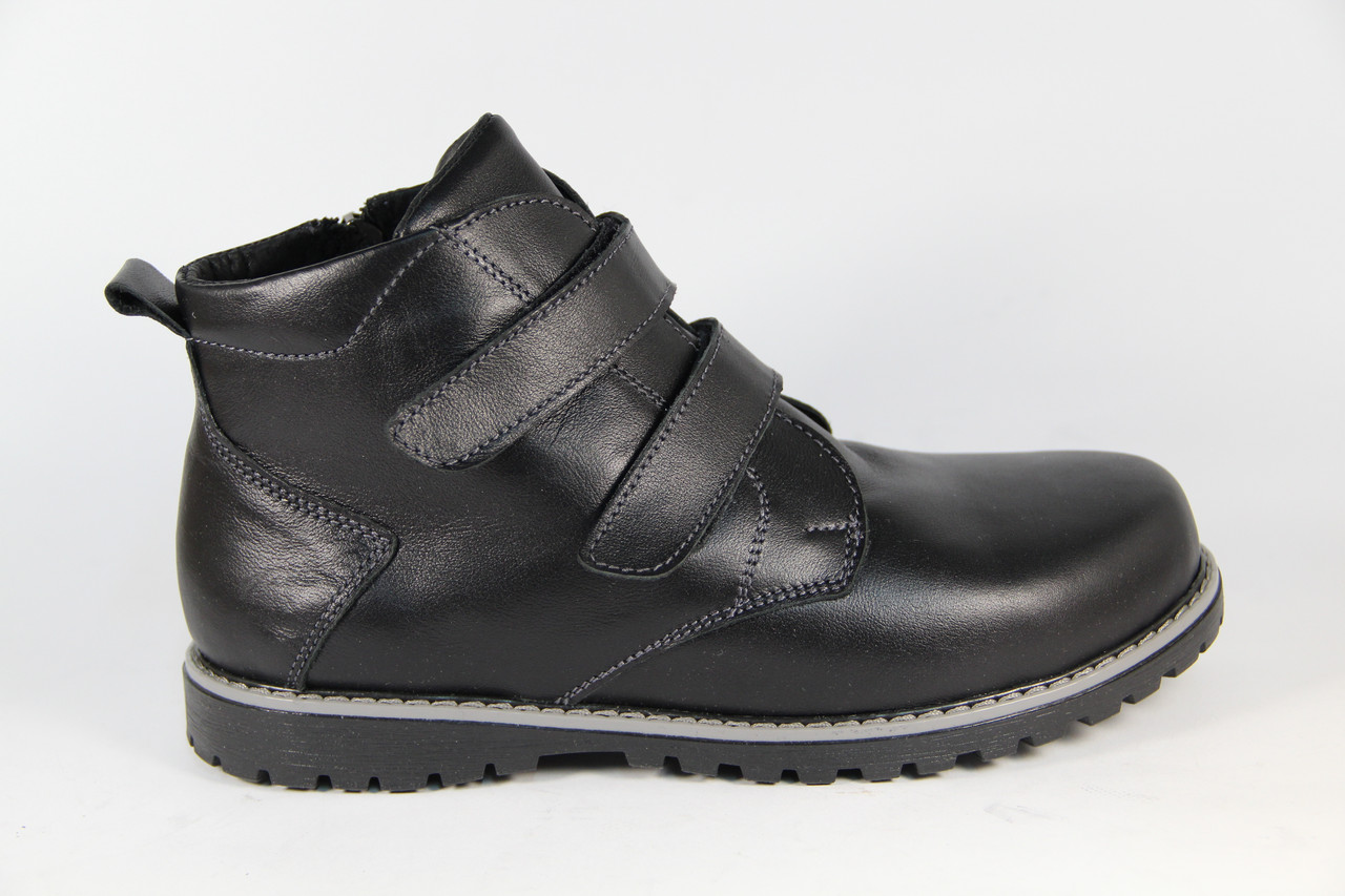 Зимняя детская спортивная обувь из натуральной кожи DF54BL