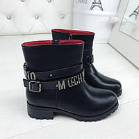 Женские зимние ботинки Moschino, фото 1