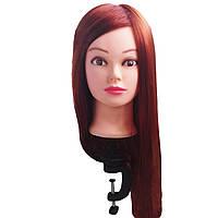 Манекен головы тренировочный с рыжими волосами №1