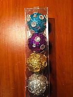 Набор игрушек в форме шара 7см 4 шт