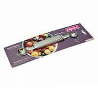 Фигурная ложка для фруктов и овощей 20см двухсторонняя с лезвием из нержавеющей стали Fissman