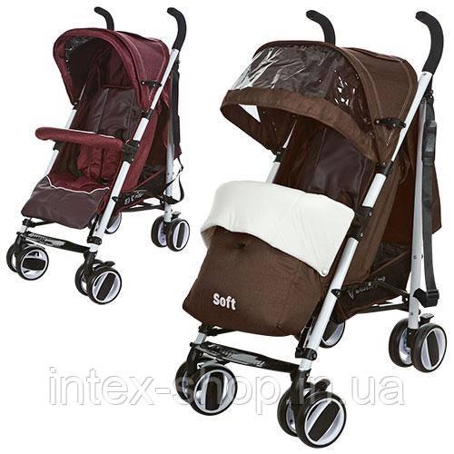 Дитяча коляска-тростина Bambi (M 3432-2 SOFT) (Коричневий)