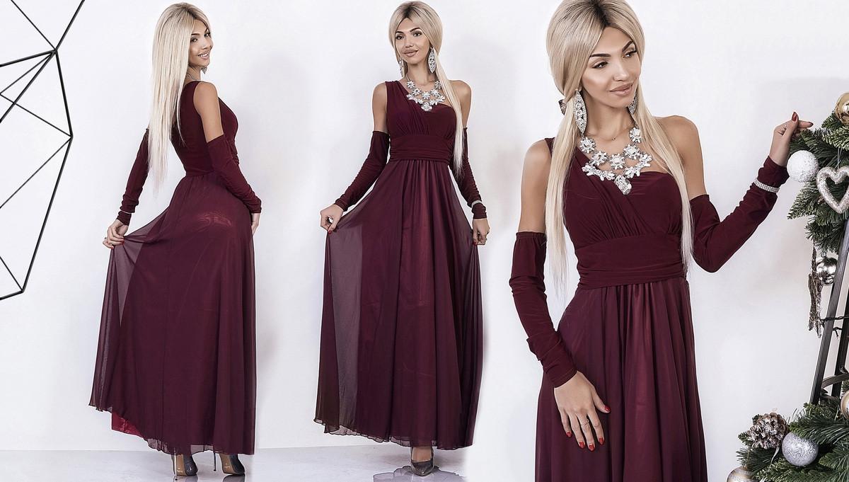 2a326fc95e78fa9 Вечернее платье на одно плечо - All You Need - прямой поставщик женской  одежды оптом и