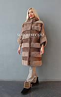 Красивая шуба из меха южноамериканского бобра и норки ,52р