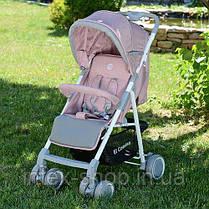 Детская прогулочная коляска El Camino (M 3420-8 NOTA) Розовая, фото 3